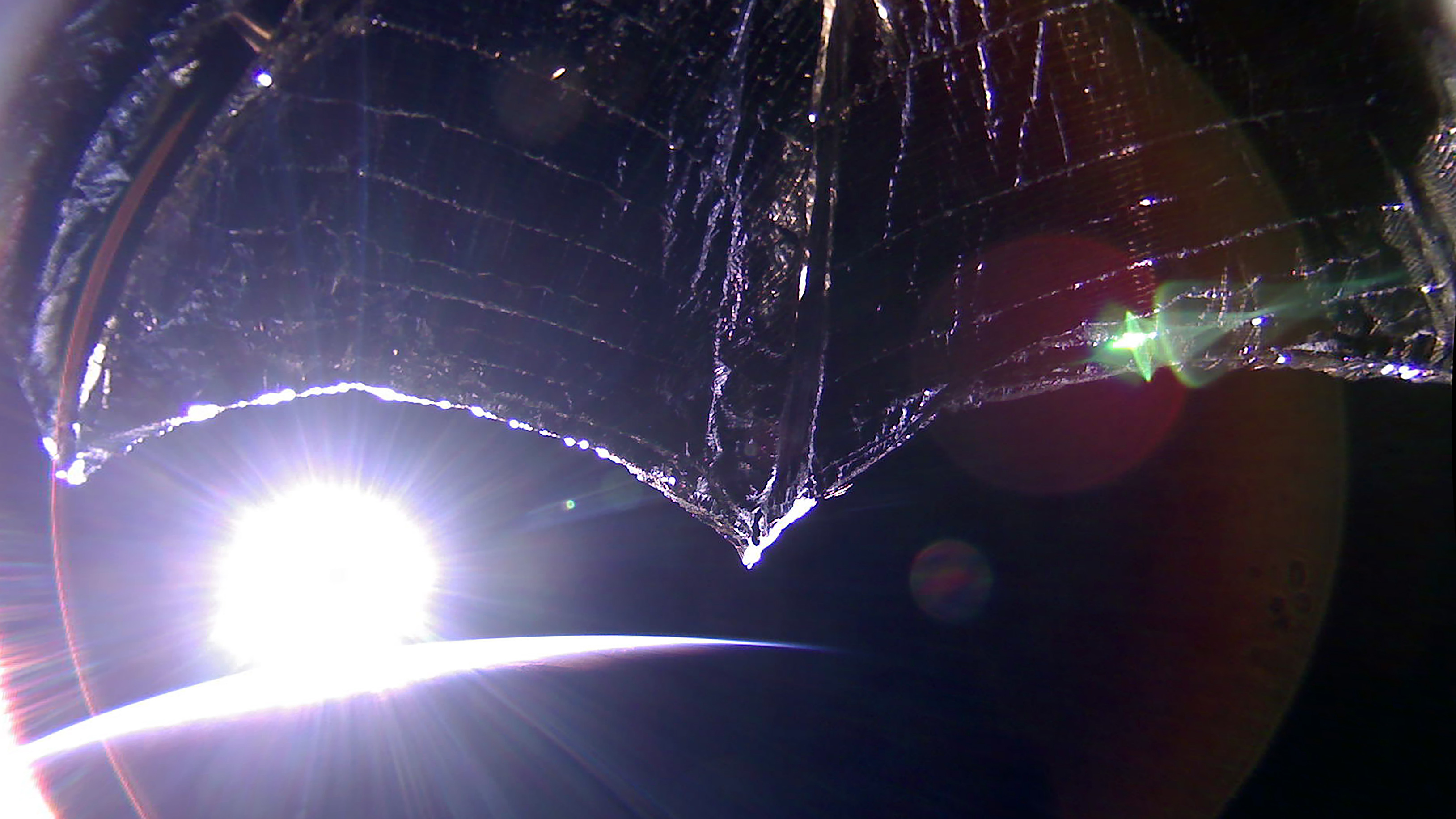 Sunrise from LightSail-2