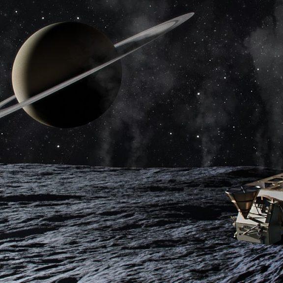Enceladus orbilander artists concept