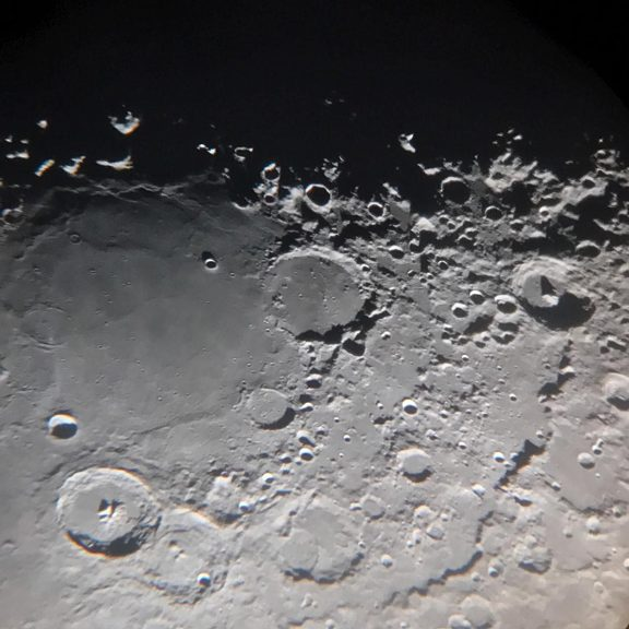 Evans lunar surface