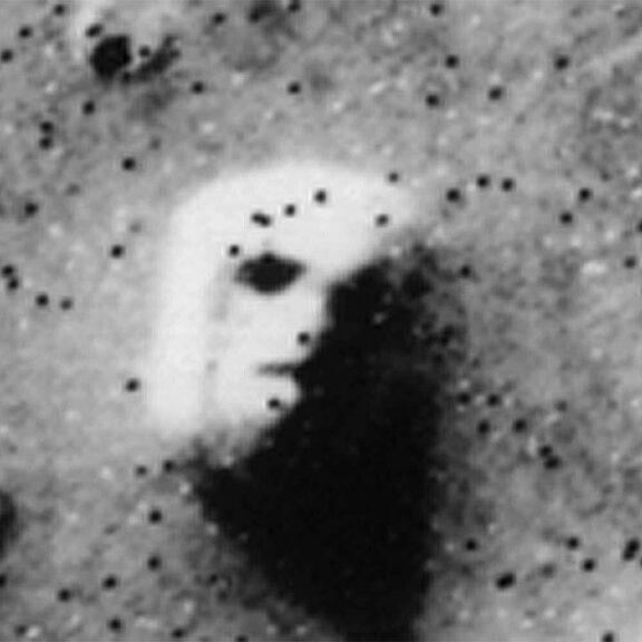 Viking face on mars